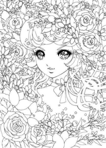 Detailed Coloring Pages Of Girls  Detailed coloring pages of anime girl ColoringStar