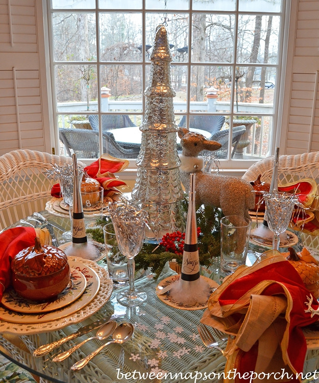 Dinner Party Ideas Winter  New Year s Dinner Party Table Setting Tablescape with a