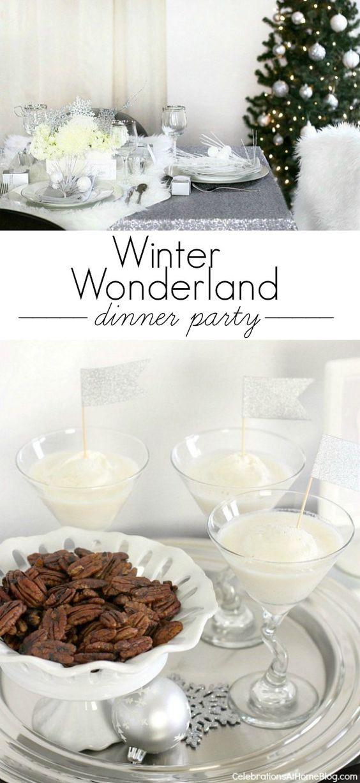 Dinner Party Ideas Winter  Winter wonderland Wonderland and Dinner parties on Pinterest