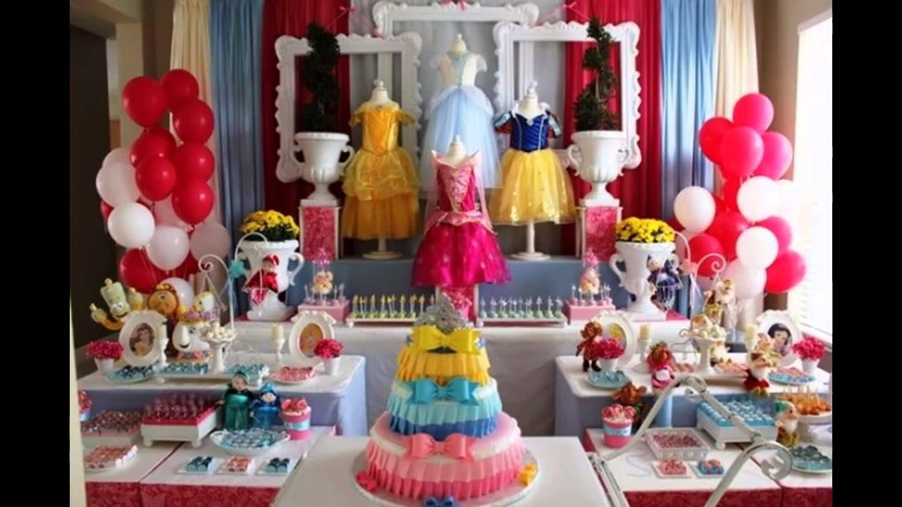 Disney Birthday Decorations  Cool Disney princess themed party ideas