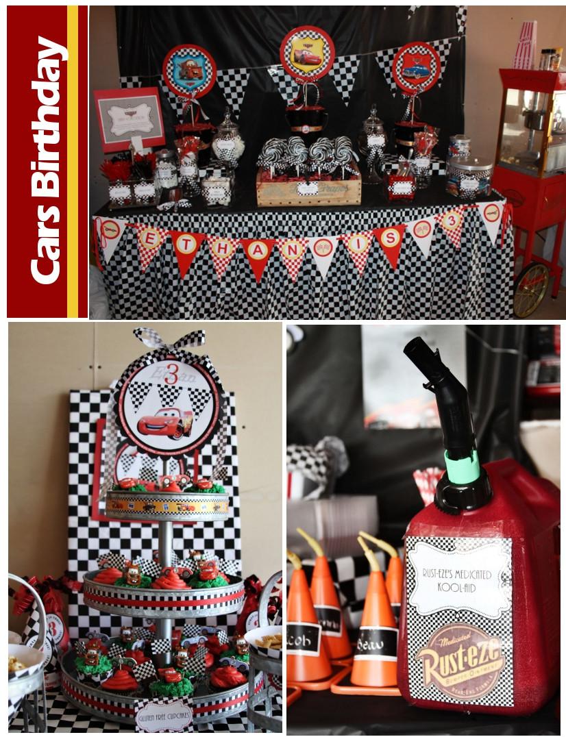 Disney Birthday Decorations  Disney Cars Birthday Party