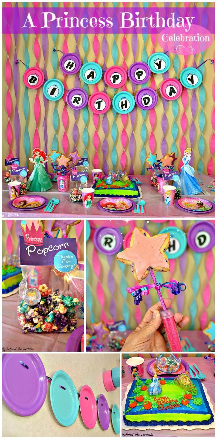 Disney Birthday Decorations  Disney Princess Birthday Party Ideas and Crafts