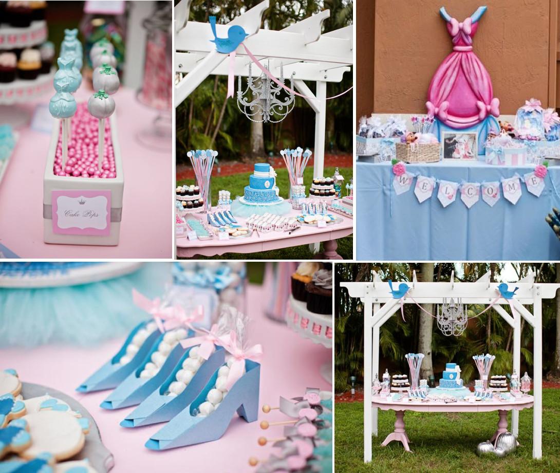Disney Birthday Decorations  Kara s Party Ideas Disney Princess Cinderella Girl 1st