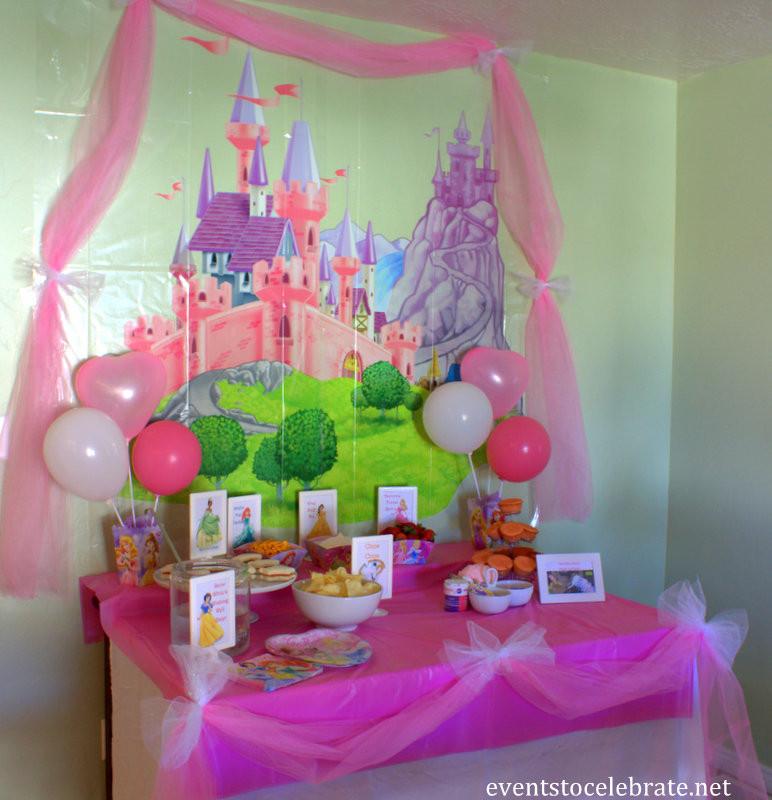 Disney Birthday Decorations  Disney Princess Birthday Party Ideas Food & Decorations