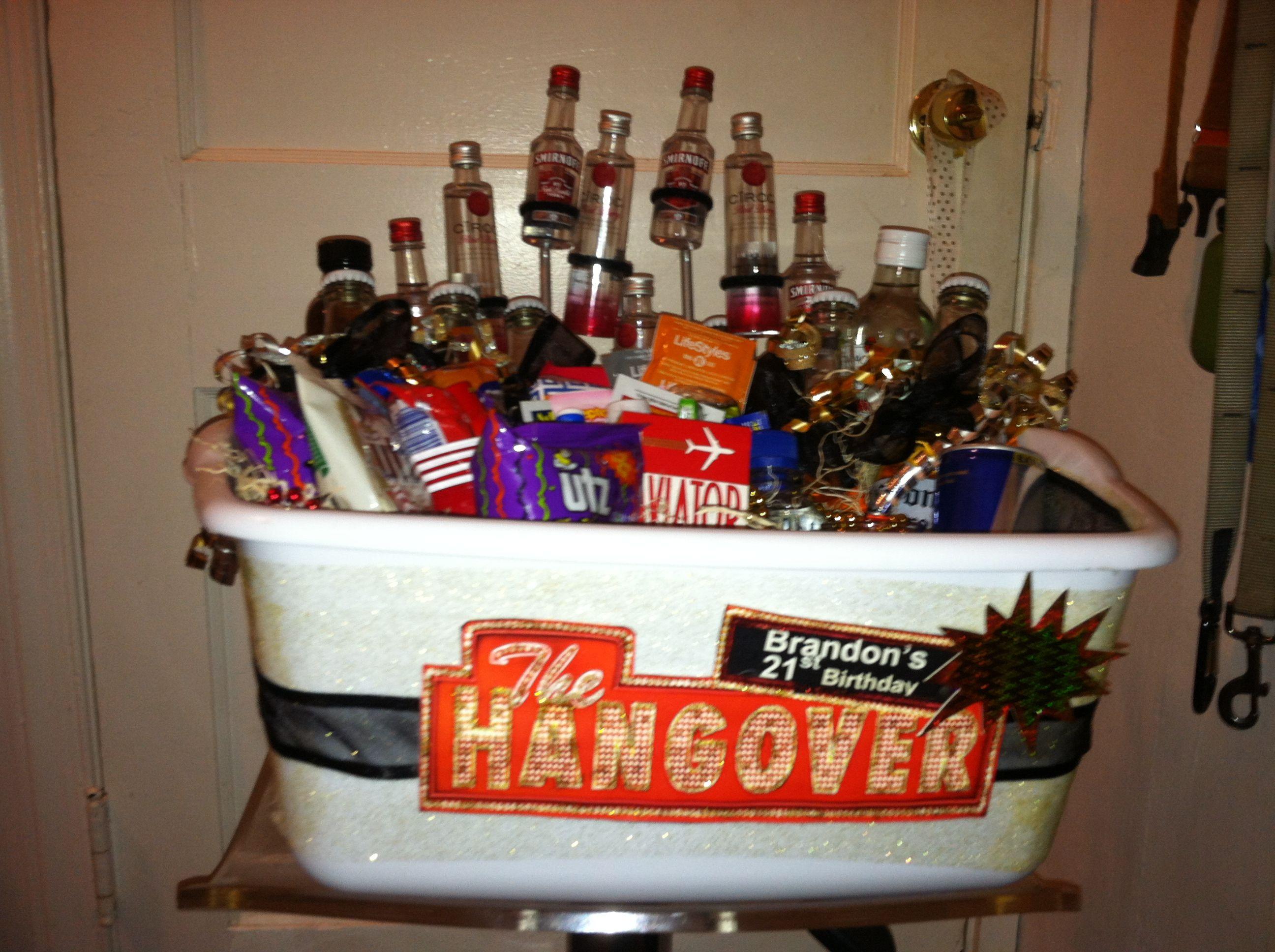 DIY 21St Birthday Gifts  Epic DIY 21st birthday Hangover themed t basket