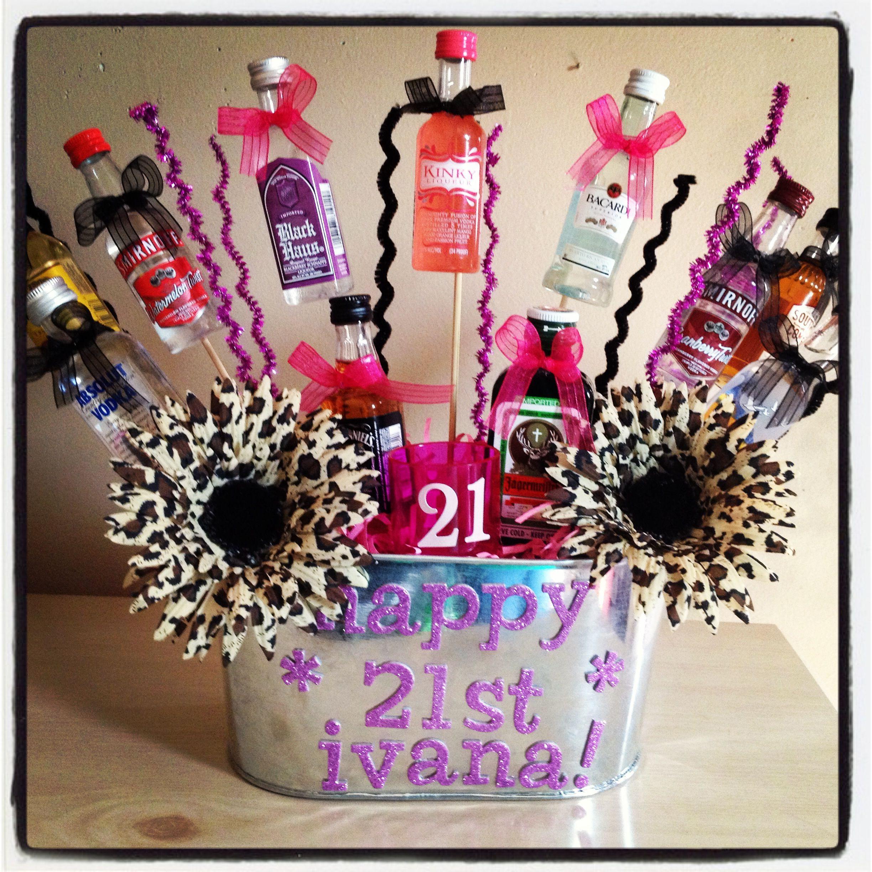 DIY 21St Birthday Gifts  21st Birthday Basket Crafty crafty