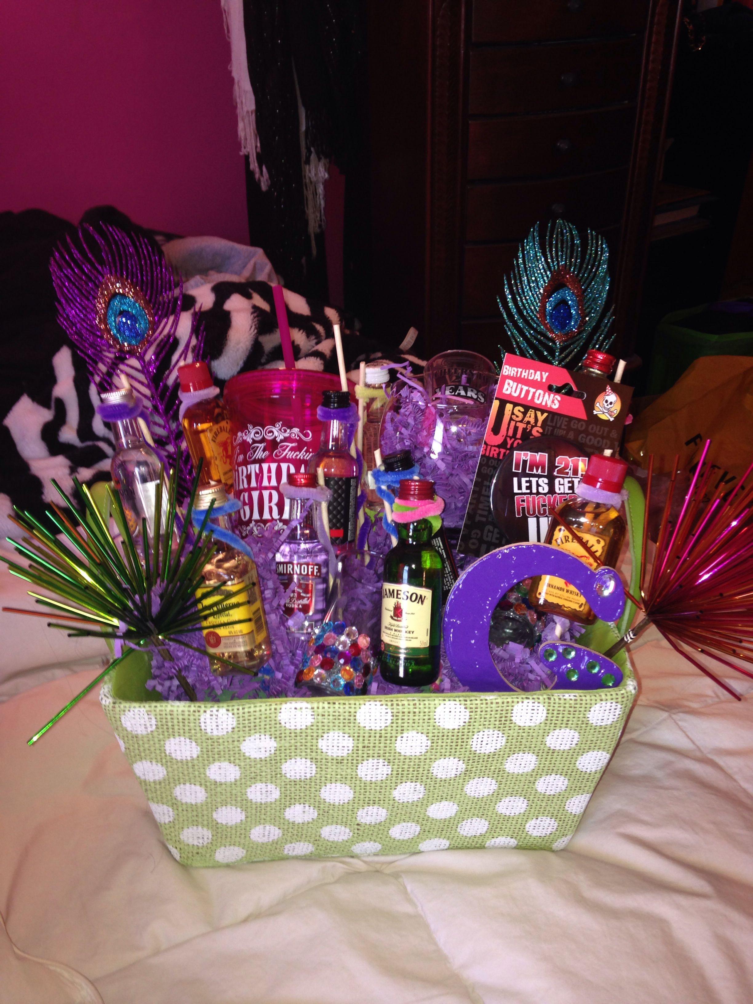 DIY 21St Birthday Gifts  21st birthday t basket I made diy crafts birthday