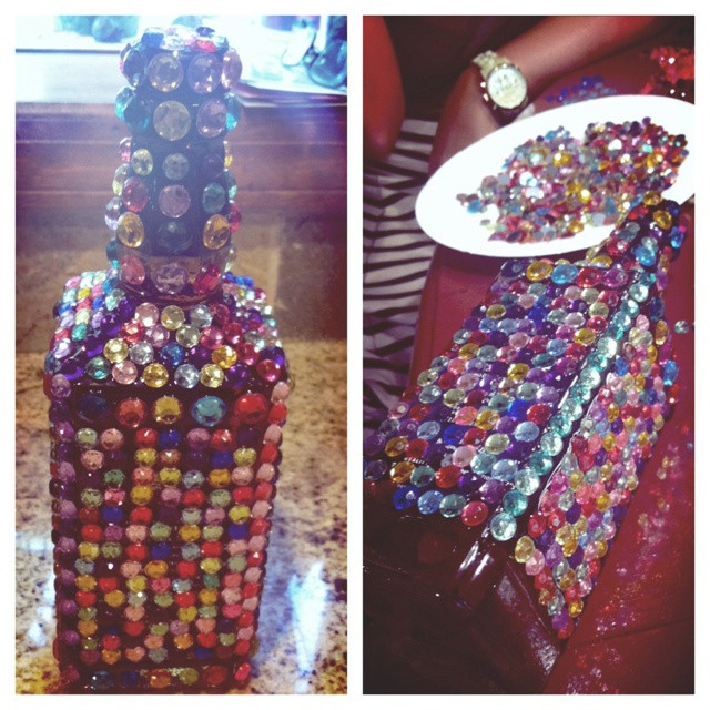 DIY 21St Birthday Gifts  89 best Bedazzled Booze Bottles and other DIY 21st