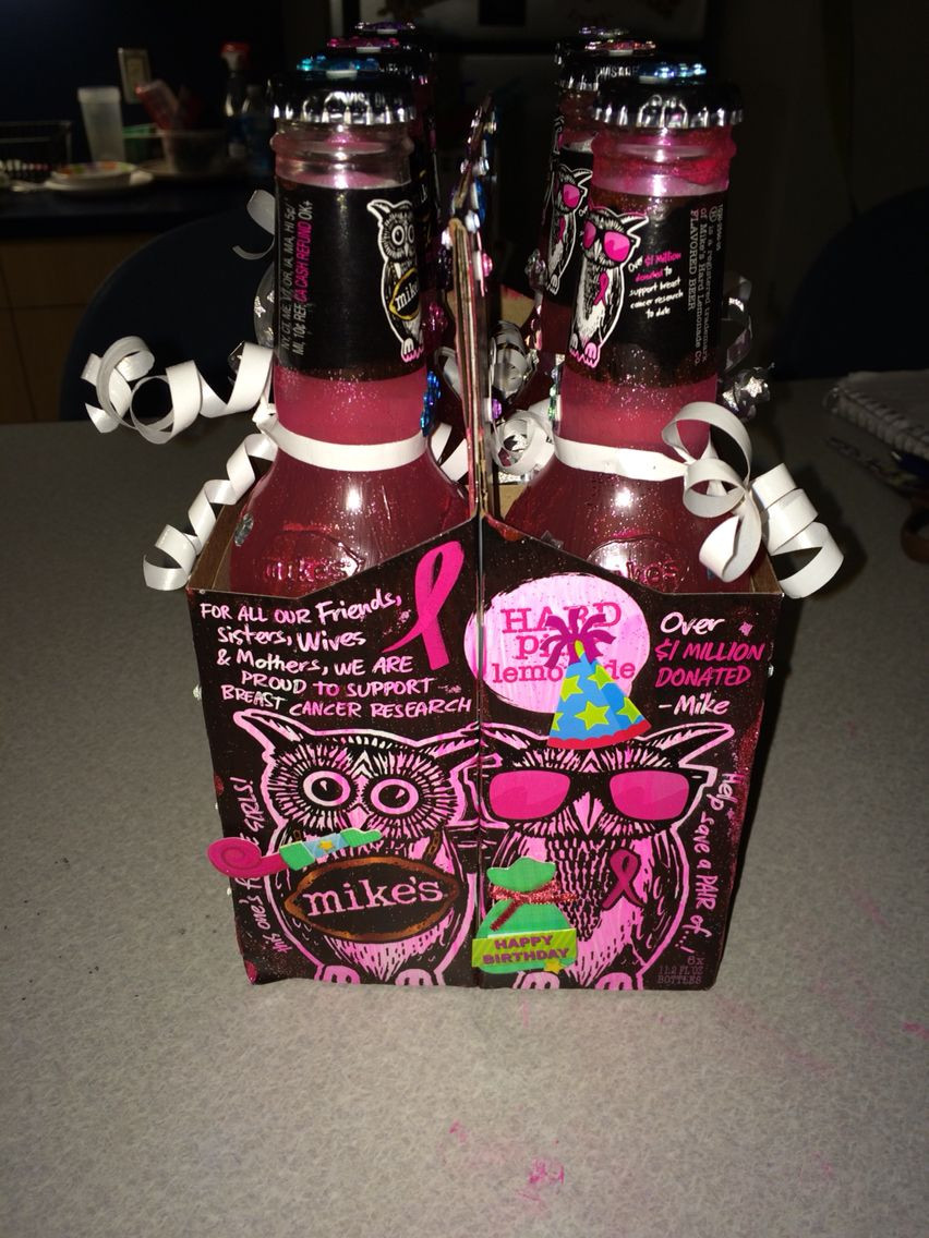 DIY 21St Birthday Gifts  21st birthday t for my best friend mikes hard lemonade