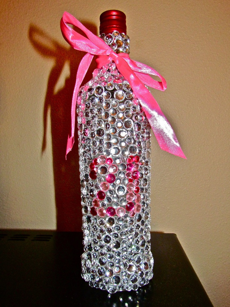 DIY 21St Birthday Gifts  89 best images about Bedazzled Booze Bottles and other DIY