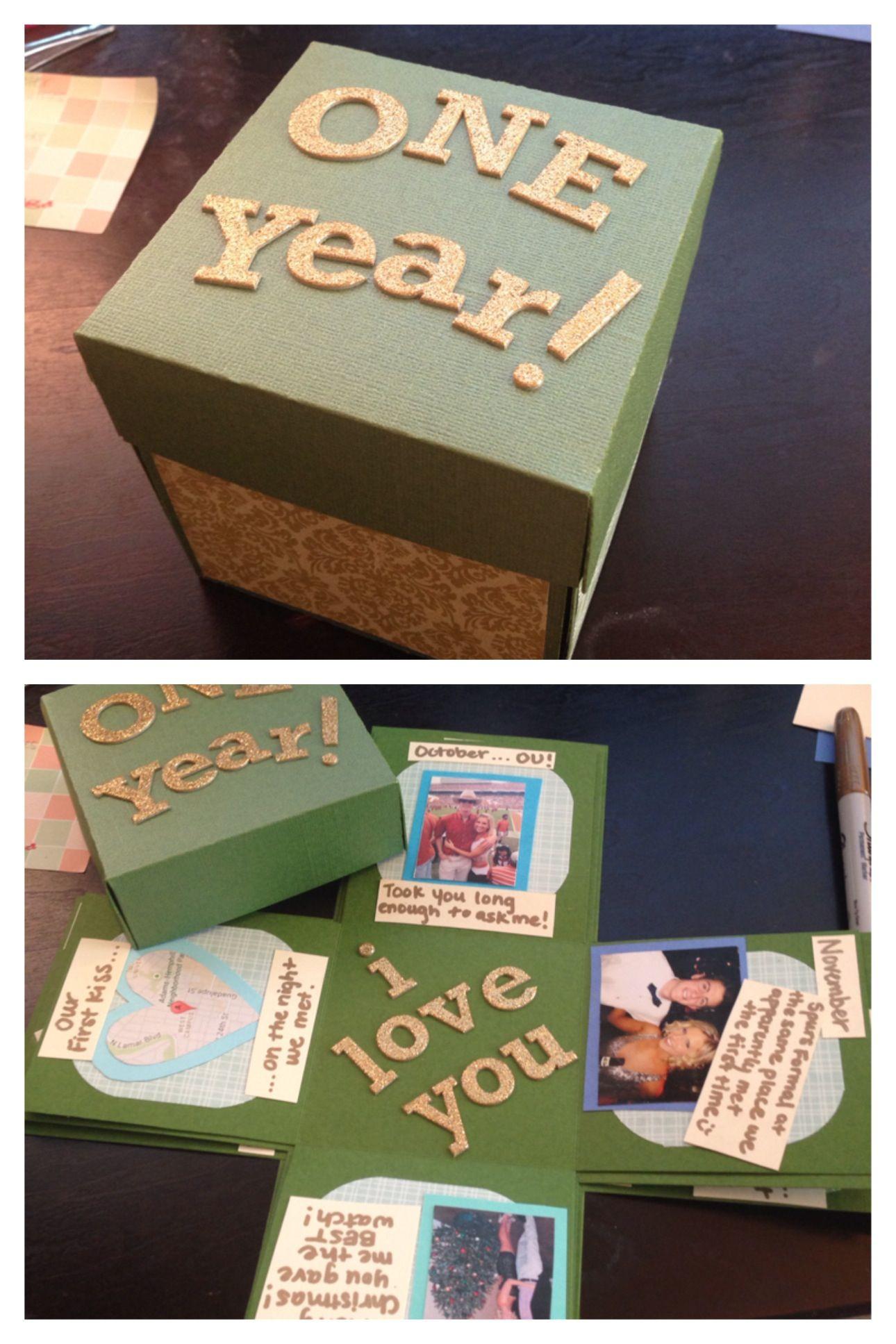 DIY Anniversary Gifts For Him  Boyfriend Anniversary Gifts on Pinterest