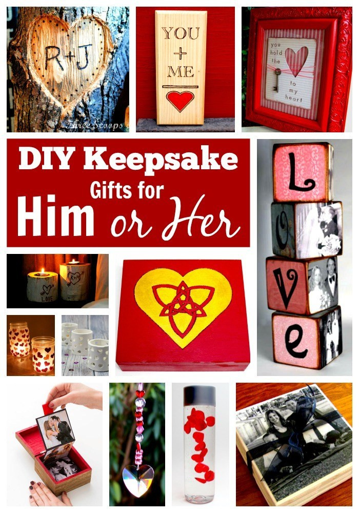 DIY Anniversary Gifts For Him  25 DIY Gifts for Him or Her – In Crafts
