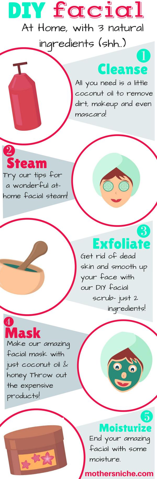 DIY At Home Face Mask  Easy DIY Facial at Home