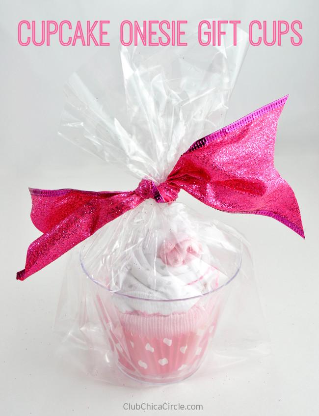 DIY Baby Girl Gifts  Cupcake esie Gift Cups