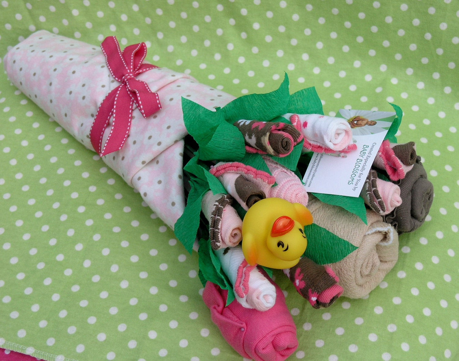 DIY Baby Girl Gifts  Baby Clothes Bouquet for Girls Unique Baby by babyblossomco