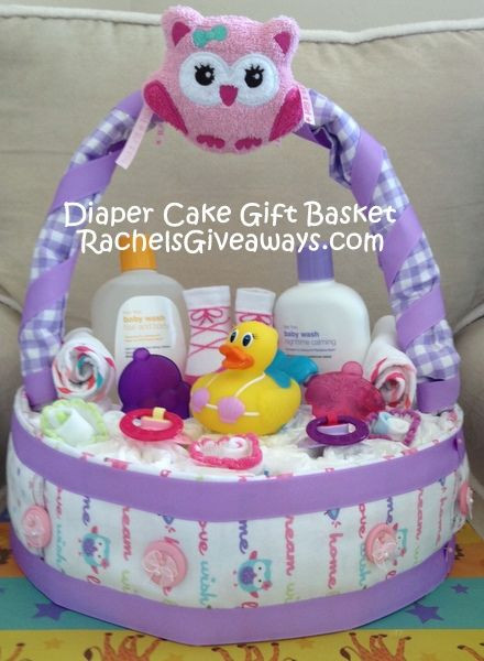 DIY Baby Girl Gifts  Baby Shower Gift Ideas My DIY Diaper Cake Gift Basket