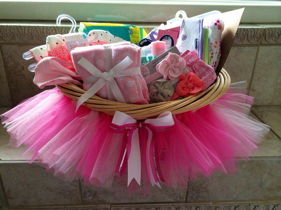 DIY Baby Girl Gifts  Baby shower tutu t basket DIY