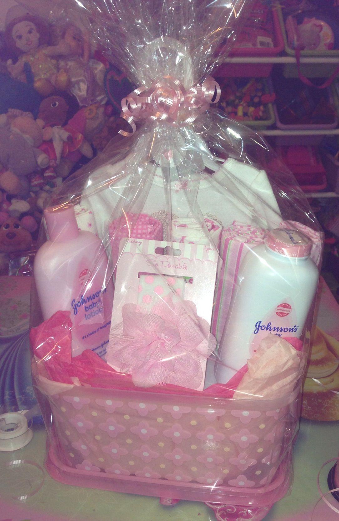 DIY Baby Girl Gifts  DIY baby shower t basket for a girl