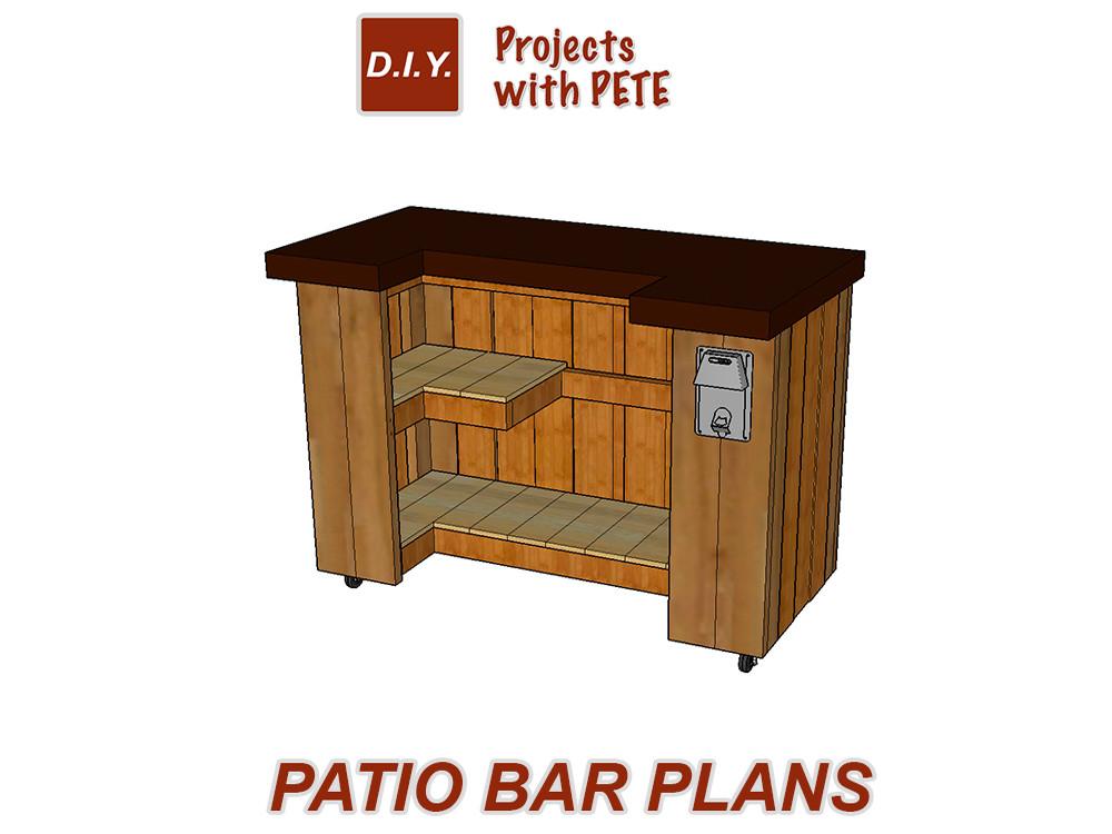 DIY Bar Plan  DIY Project Plans Downloadable Detailed Plans and Cut List