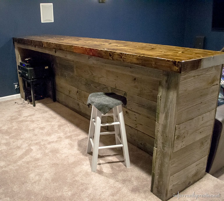DIY Bar Plan  Man Cave Wood Pallet Bar Free DIY Plans