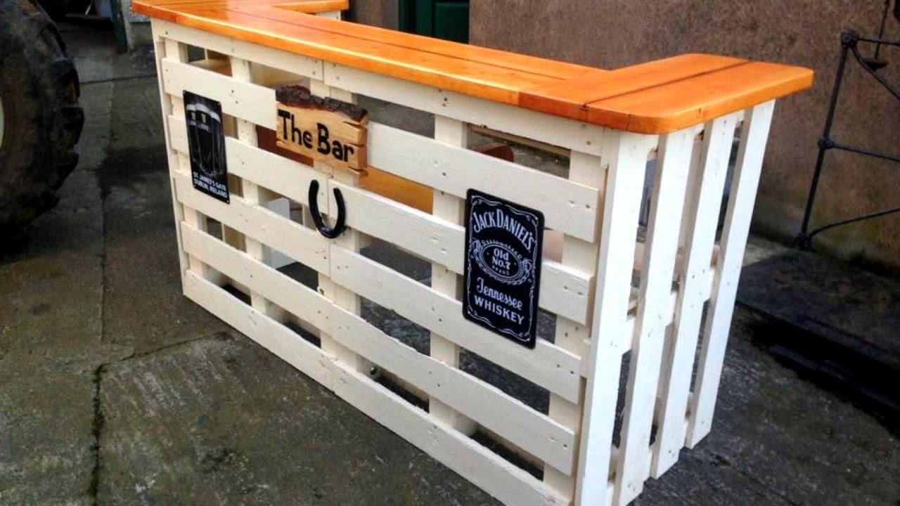 DIY Bar Plan  40 DIY PALLET BAR Ideas Creative 2017 Cheap Recycled Bar