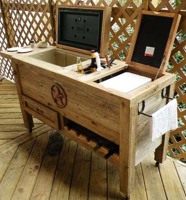 DIY Bar Plan  26 Creative and Low Bud DIY Outdoor Bar Ideas