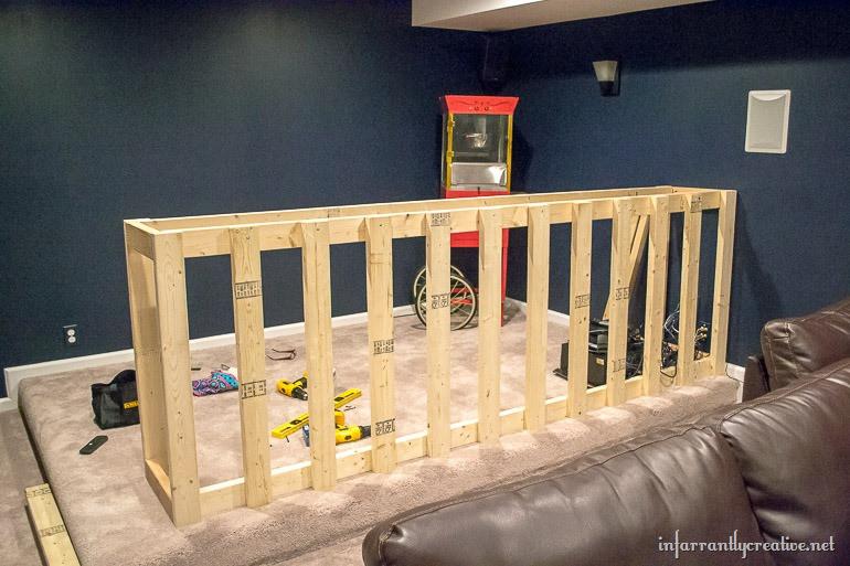 DIY Bar Plan  Man Cave Wood Pallet Bar Free DIY Plans Infarrantly
