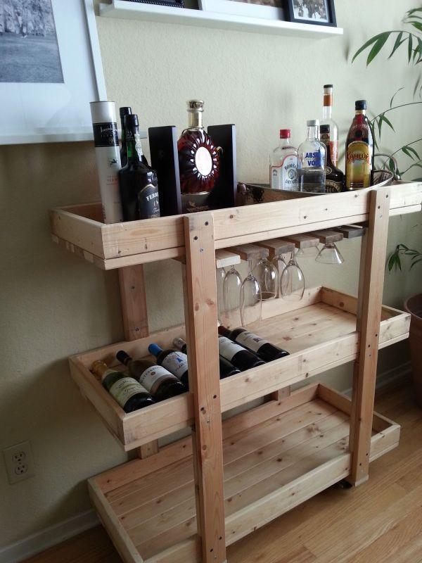 DIY Bar Plan  14 Inspiring DIY Bar Cart Designs And Makeovers