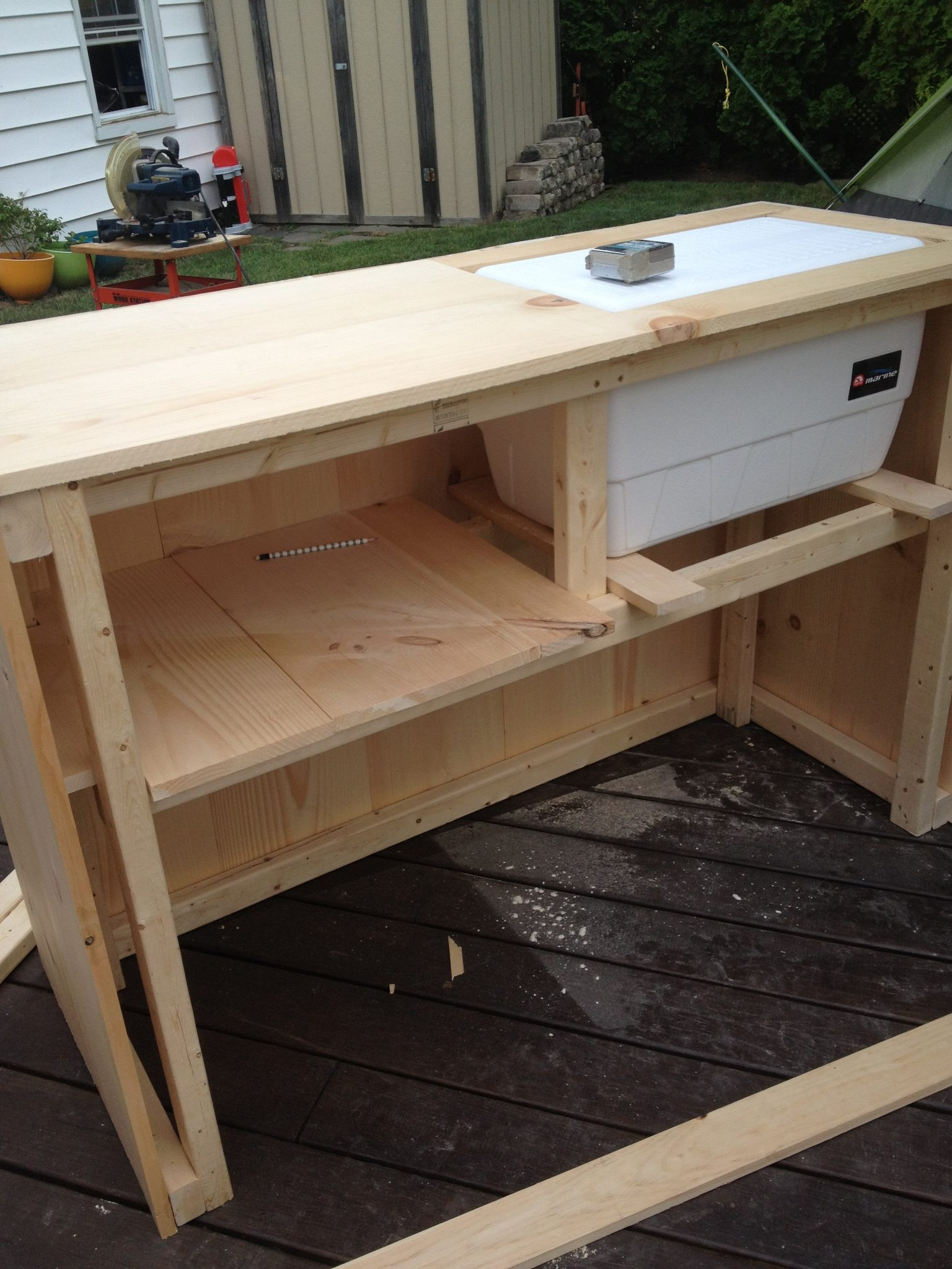 DIY Bar Plan  DIY Outdoor Bar with built in cooler