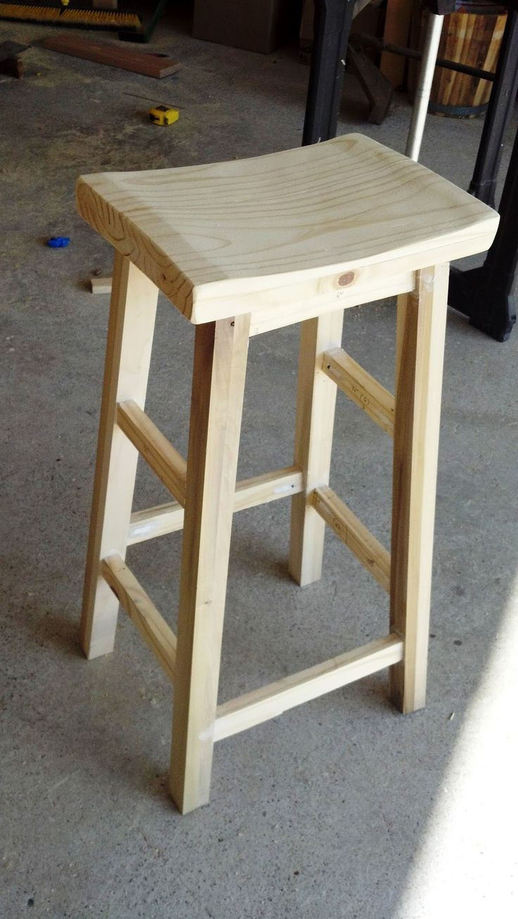 DIY Bar Stools Plans  Saddle Bar Stool Woodworking Plans WoodWorking Projects