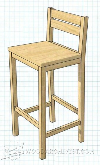 DIY Bar Stools Plans  DIY Bar Stool • WoodArchivist