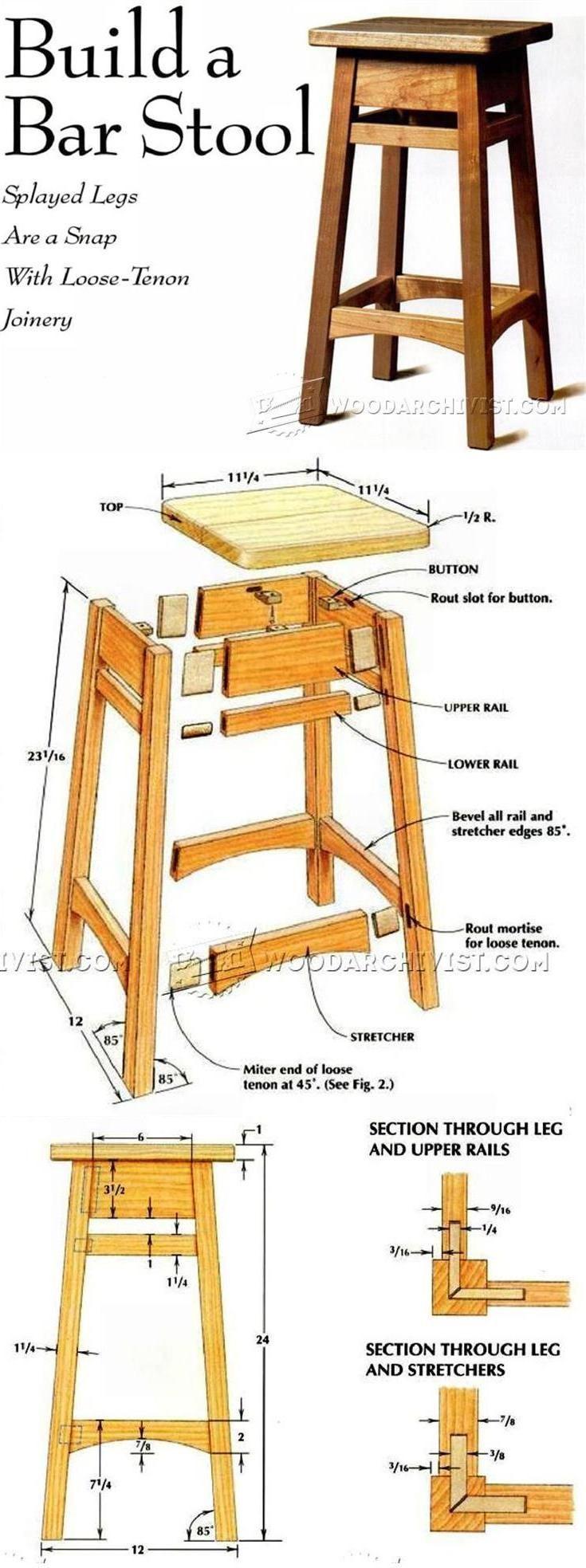 DIY Bar Stools Plans  Best 25 Wood stool ideas on Pinterest