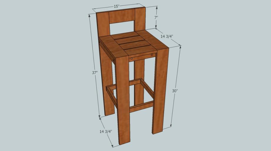 DIY Bar Stools Plans  Copacetic Woodwork Design Ltd Free Bar Stool Plans