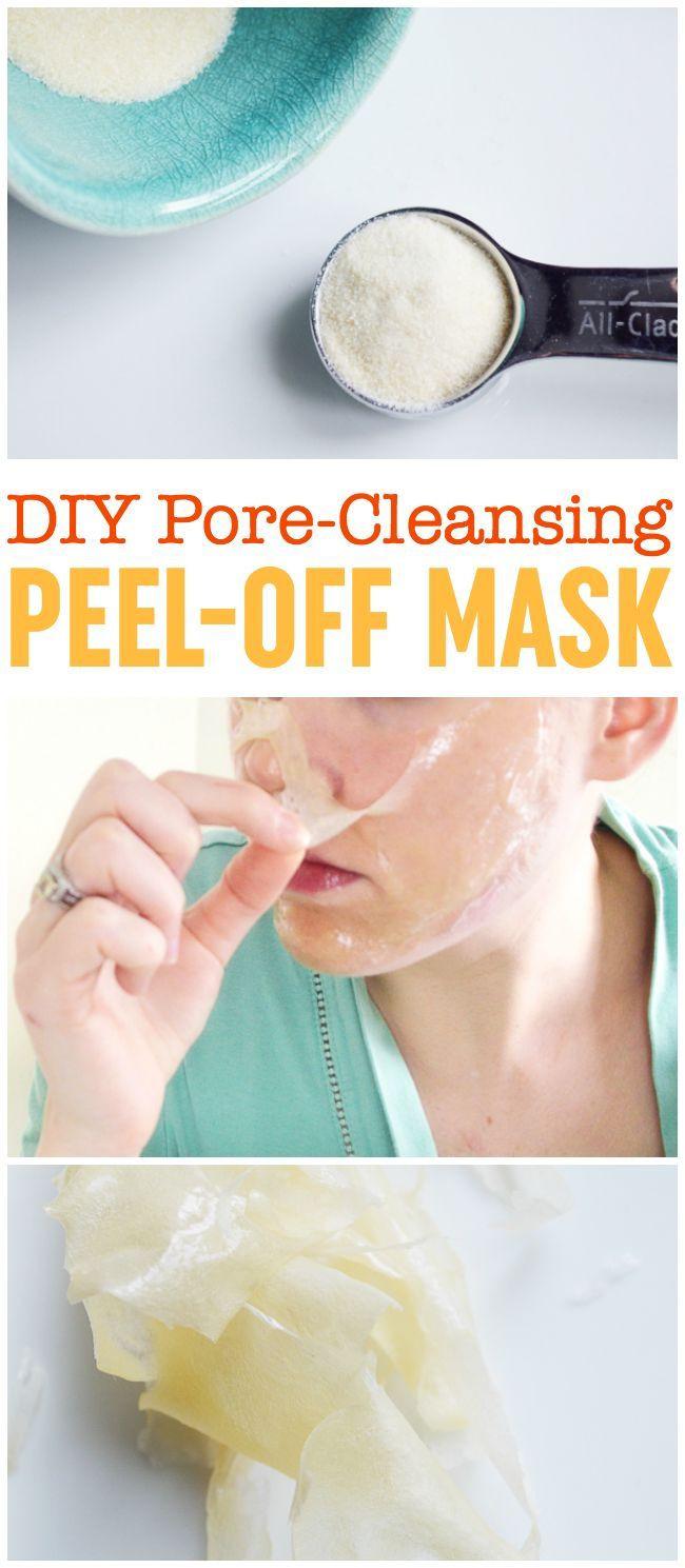 DIY Blackhead Mask  DIY Peel f Mask Pore Cleansing Blackhead Busting Face