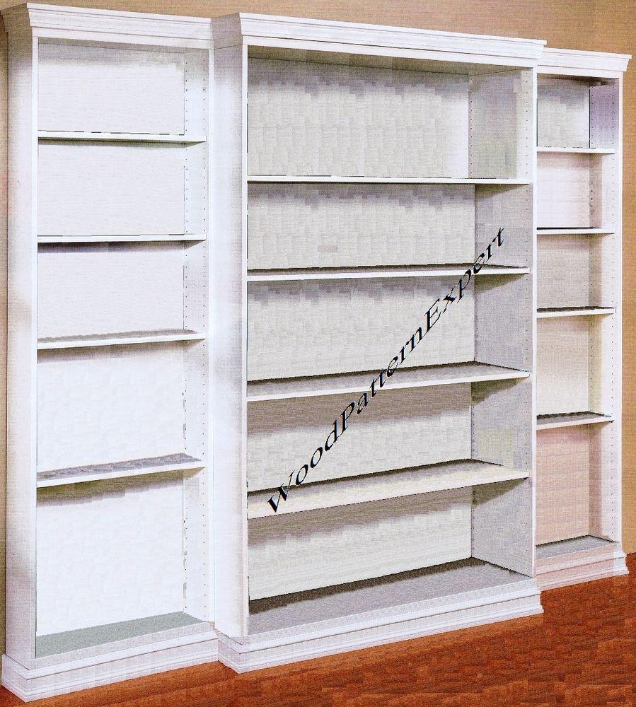 DIY Bookshelf Plans  BOOKCASE Paper Patterns BUILD ANY SIZE CUSTOM BOOKSHELF