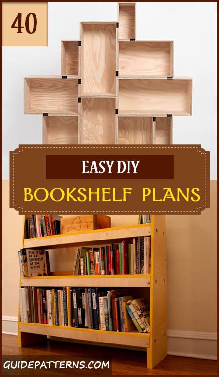 DIY Bookshelf Plans  40 Easy DIY Bookshelf Plans