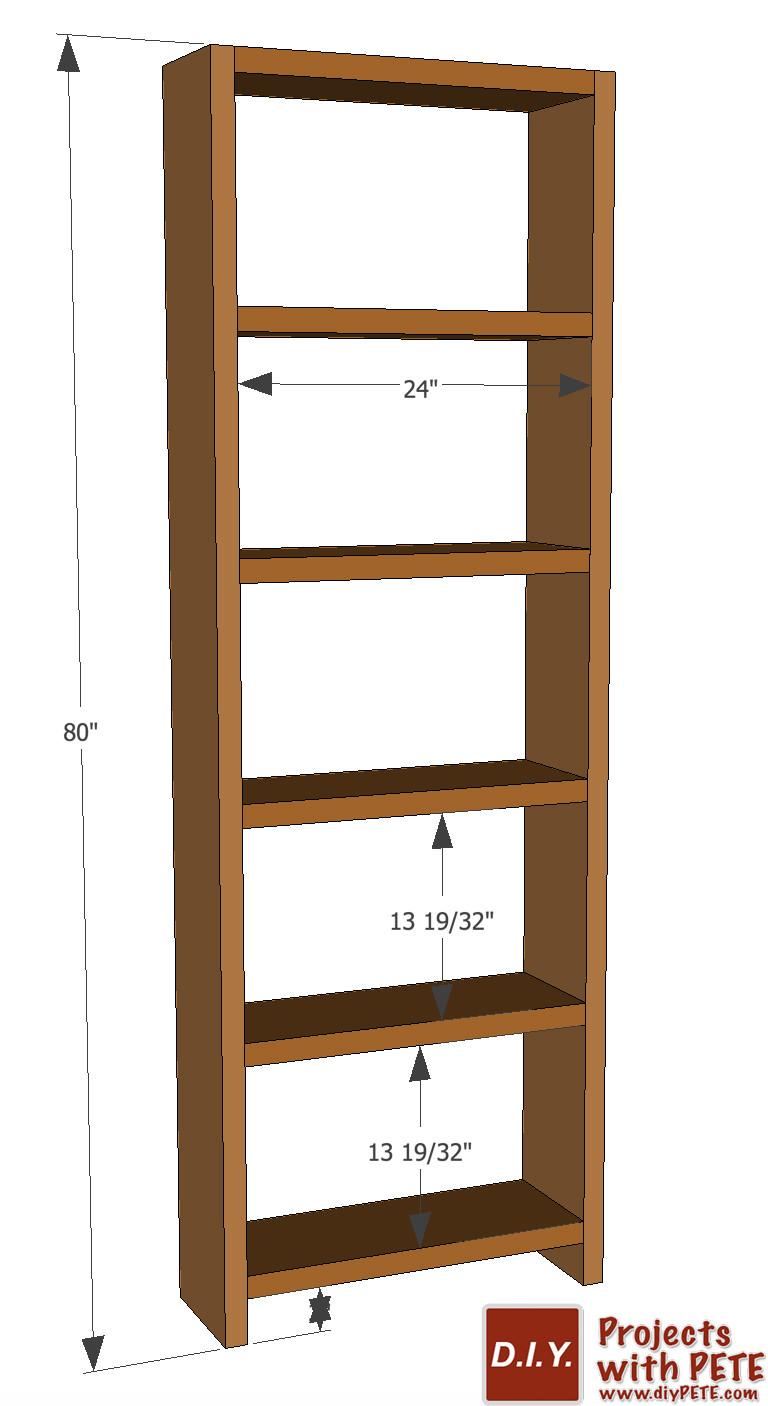 DIY Bookshelf Plans  DIY Simple Bookshelf Plans