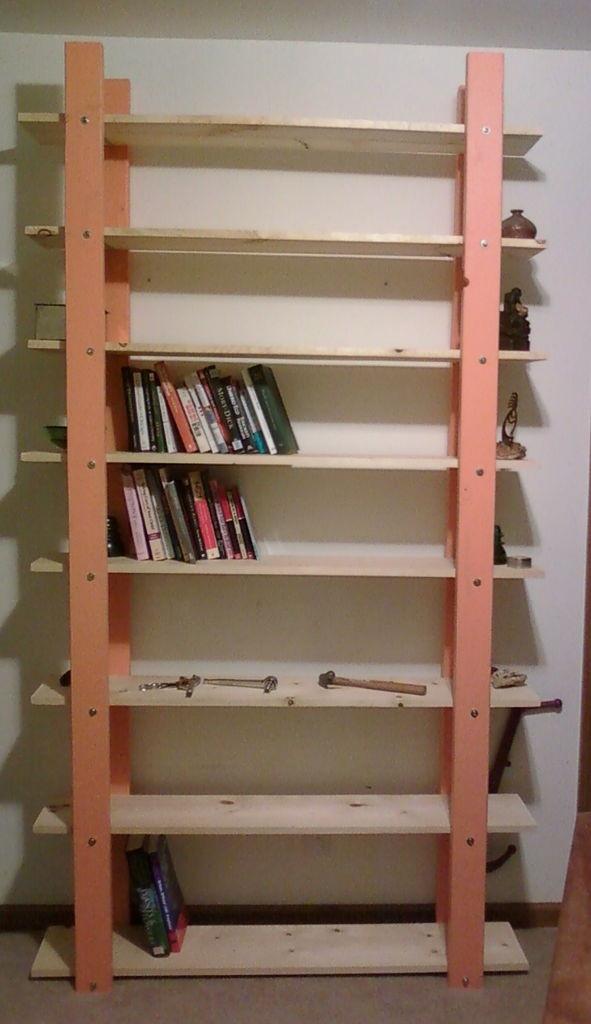 DIY Bookshelf Plans  Cheap easy low waste bookshelf plans