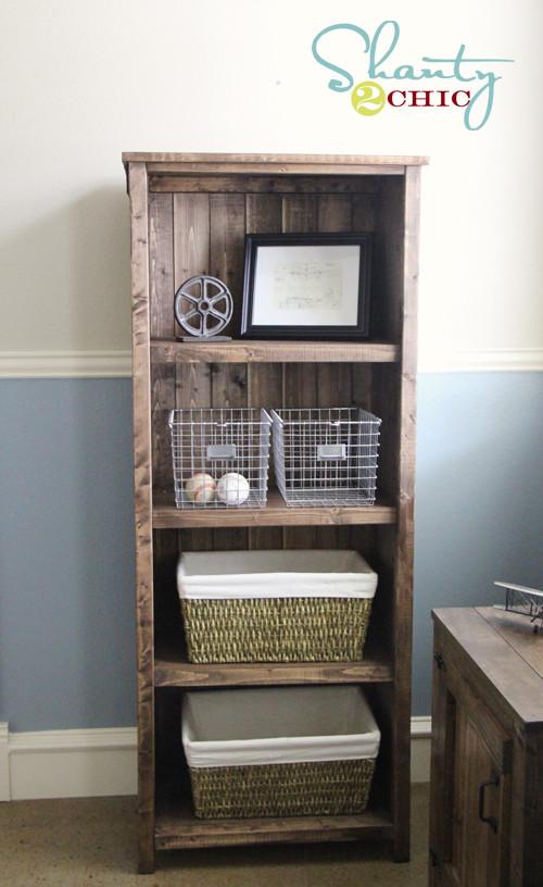 DIY Bookshelf Plans  DIY Kentwood Bookcase Shanty 2 Chic