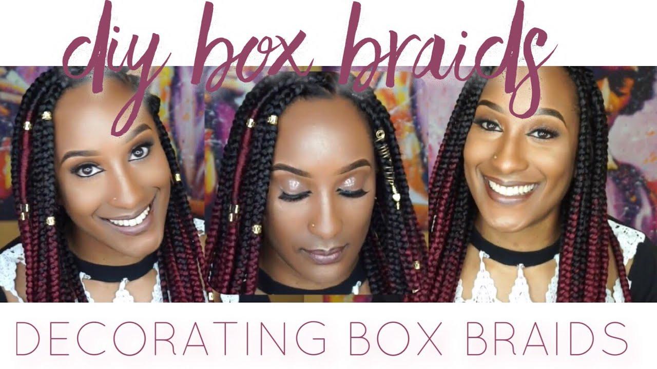 DIY Box Braids  DIY Ombre Box Braids Decorating Box Braids