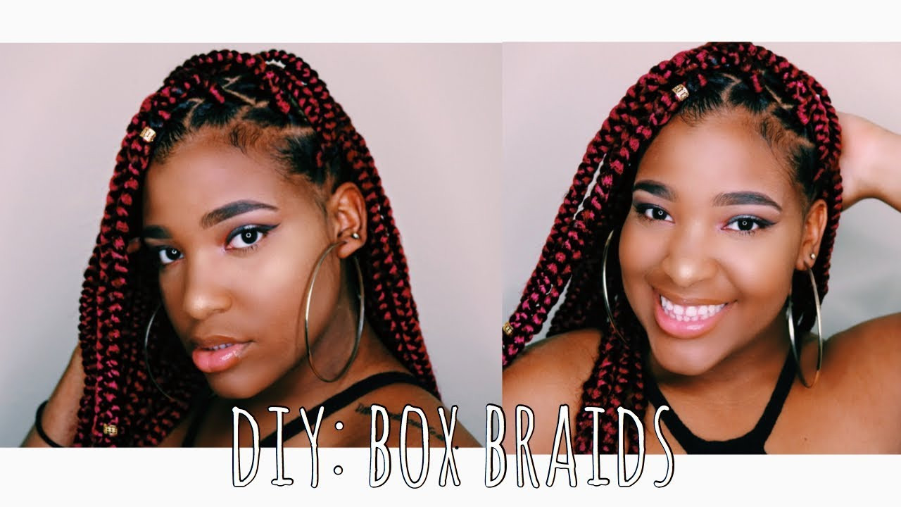 DIY Box Braids  DIY Box Braids Rubber Band Method