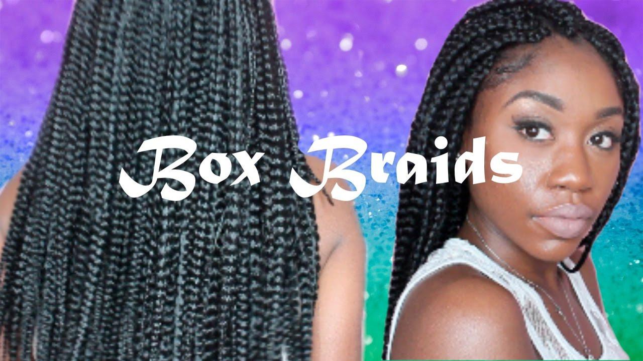 DIY Box Braids  DIY Crochet Box Braids Beginner Friendly ft Model Model
