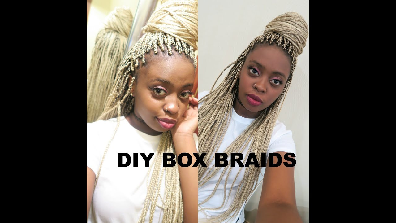 DIY Box Braids  HOW TO DIY BOX BRAIDS TUTORIAL W KANEKALON HAIR