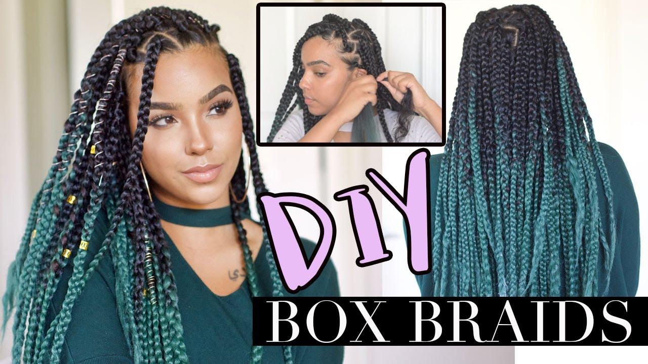 DIY Box Braids  DIY Box Braids like a PRO LOW TENSION TECHNIQUE [Video