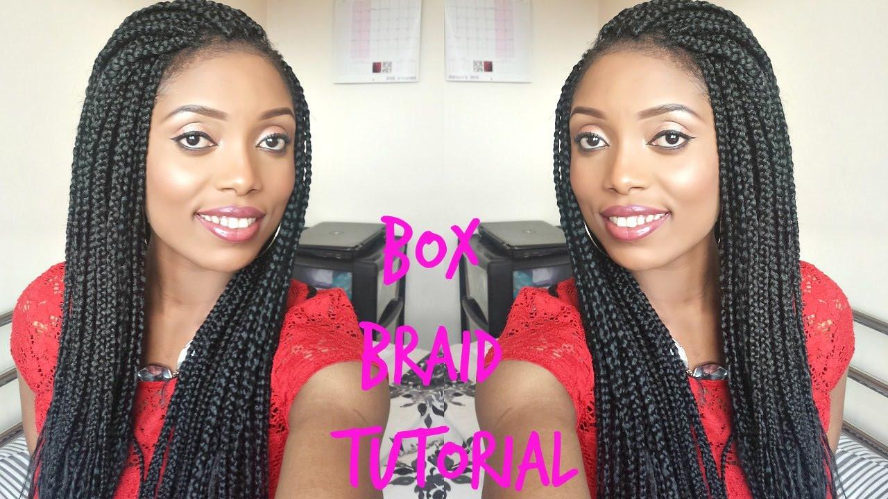 DIY Box Braids  DIY BOX BRAIDS TUTORIAL HOW TO DO YOUR OWN HAIR NATUARL