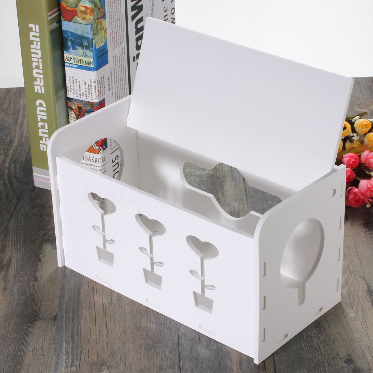 DIY Cable Management Box  Excelvan DIY Cable Storage Box Tidy Wire Management