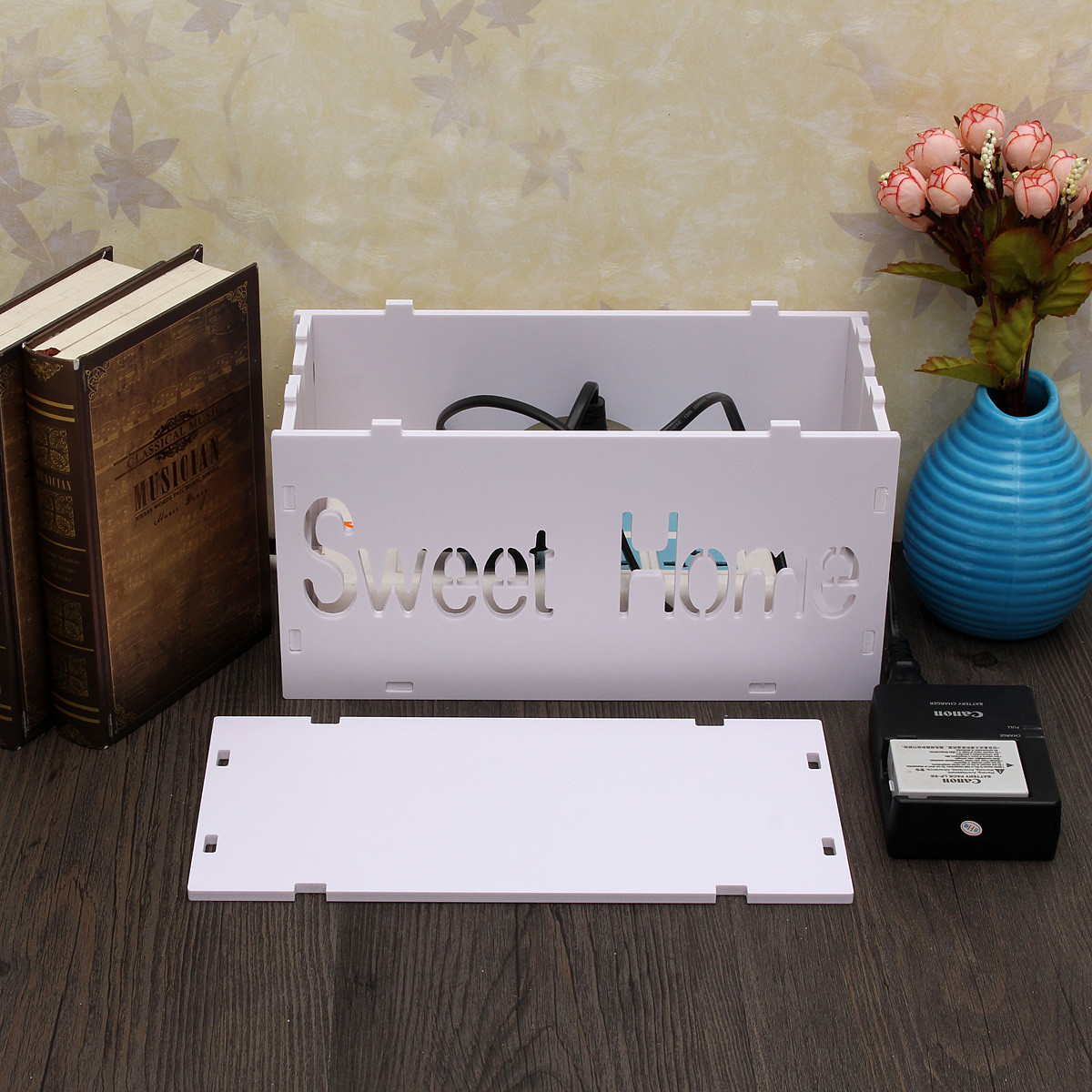 DIY Cable Management Box  Home Handmade DIY Cable Jewelry Storage Box Wire