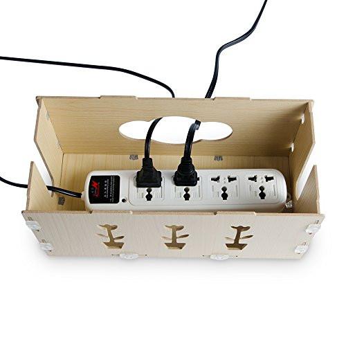 DIY Cable Management Box  KMASHI Wooden Portable DIY Charging Station Desk