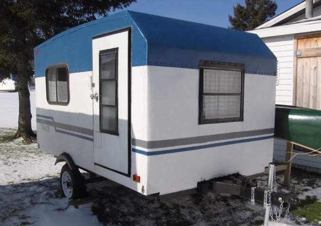 DIY Camper Trailer Plans  Tiny Yellow Teardrop Do It Yourself RV