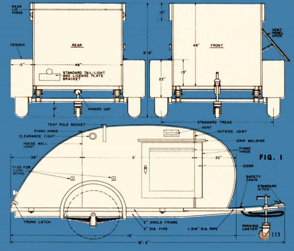 DIY Camper Trailer Plans  How To Build A Teardrop Trailer For Two